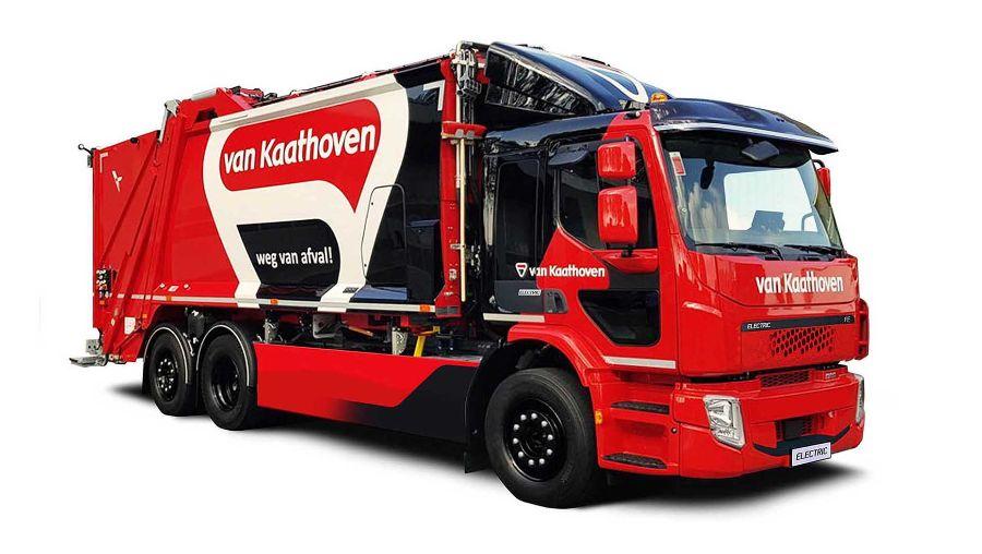 Volvo FE Electric, мусоровоз, красный