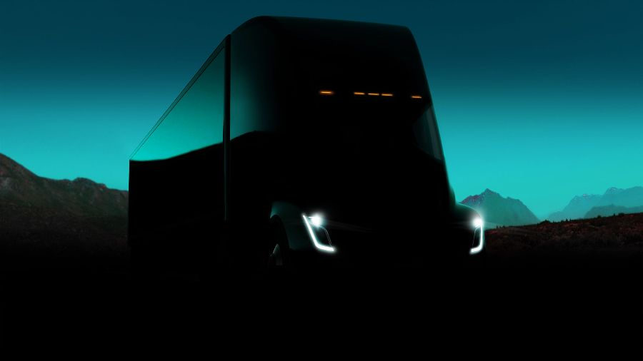 Реклама Tesla Semi. Презентация