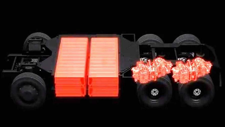 Tesla Semi. Аккумуляторы. Двигатели