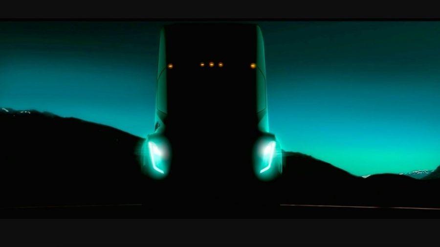 Tesla Semi. Тизерное изображение