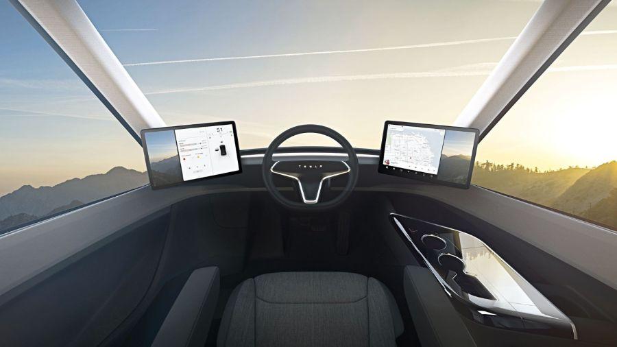Кабина Tesla Semi
